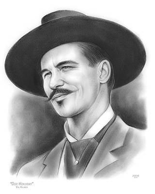 Drawing - Doc Holliday by Greg Joens
