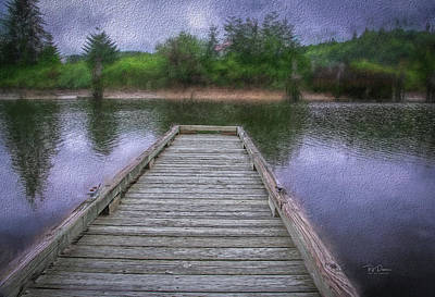 Photograph - Dock In Painting by Bill Posner