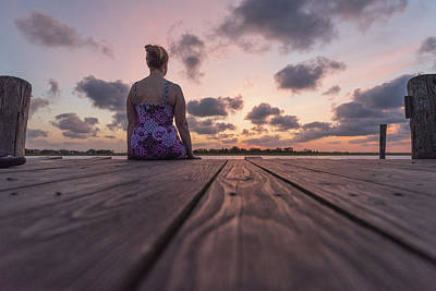 Photograph - Dock Sitter by Kristopher Schoenleber