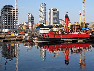 Photograph - Docklands Boats And Construction by Gill Billington