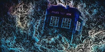 Mixed Media - Doctor Who Tardis 3 by Al Matra