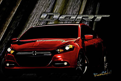 Digital Art - Dodge Dart Just Drifting Along With The Breeze by Chas Sinklier
