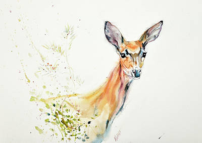 Painting - Doe - 02 by Philip and Karen Rispin