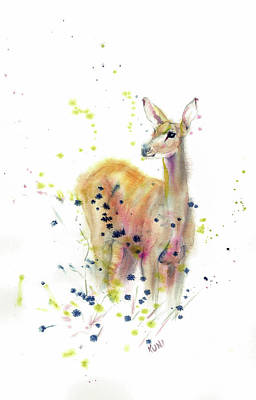 Painting - Doe by Philip and Karen Rispin