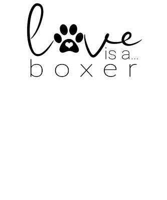 Digital Art - Dog Paw Print Design Love Boxer Dogs by Dawn Romine