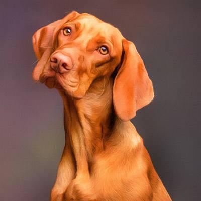 Painting - Dog Portrait by Vincent Monozlay