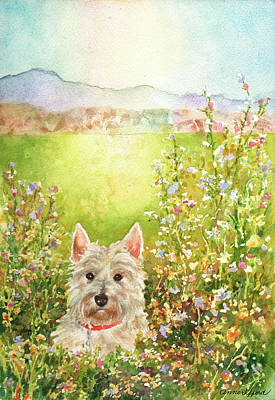 Painting - Doggie Heaven by Anne Gifford