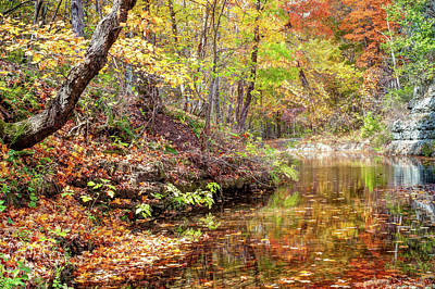 Photograph - Dogwood Canyon Nature Park Autumn Landscape - Ozark Mountains by Gregory Ballos
