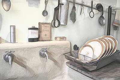 Photograph - Doing Dishes by Alison Frank