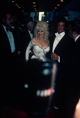 Photograph - Dolly Parton And  Sylvester Stallone by Art Zelin
