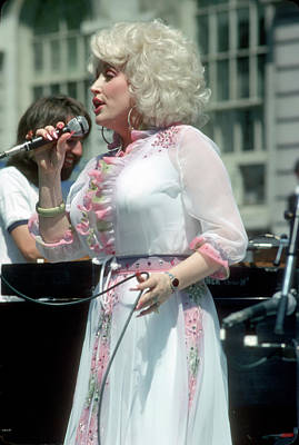 Photograph - Dolly Parton Performing In Ny by Waring Abbott