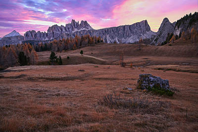 Photograph - Dolomite Sunrise by Jon Glaser