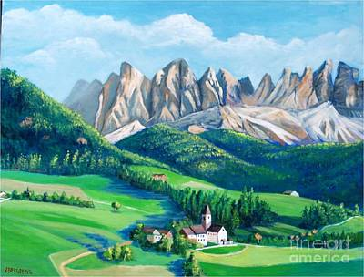 Painting - Dolomites, Italy by Jean Pierre Bergoeing