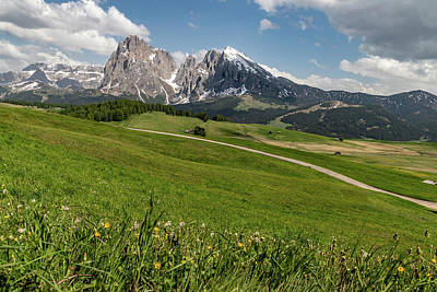 Photograph - Dolomites - Seiser Alm Hike by Julia Art