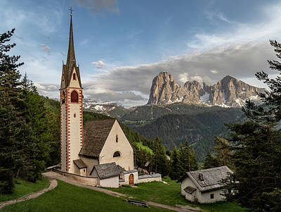 Photograph - Dolomites - St. Jakobs Kirche by Julia Art