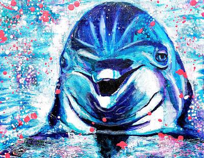 Painting - Dolphin Joy by Jennifer Charton