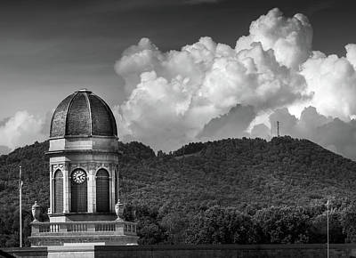 Photograph - Dome Mountain And Clouds In Black And White by Greg Mimbs