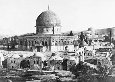 Photograph - Dome Of The Rock 1854                      by Munir Alawi