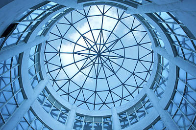 Photograph - Dome With Glass Ceiling Background by Hudiemm