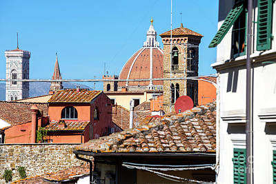 Photograph - Domes And Towers In Florence by John Rizzuto