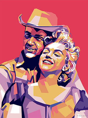 Curated Bath Towels - Don Murray and Marilyn Monroe by Stars on Art