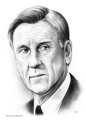 Drawing - Donald Moffat by Greg Joens