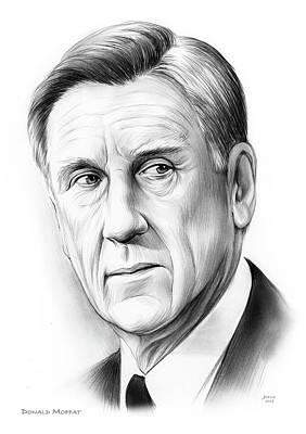 Drawings - Donald Moffat by Greg Joens