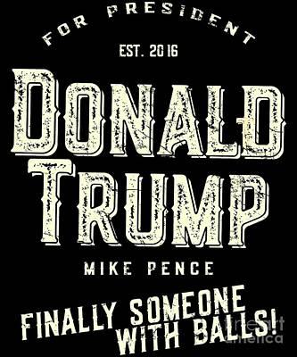 Digital Art - Donald Trump Mike Pence 2016 Vintage by Flippin Sweet Gear