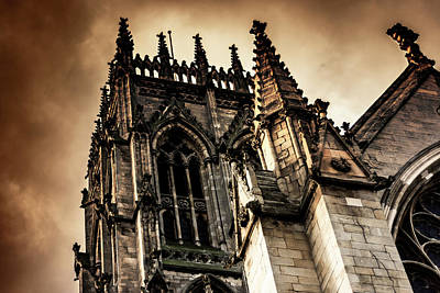 Photograph - Doncaster Minster Orange Glow by Scott Lyons