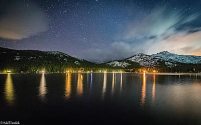 Photograph - Donner Lake Before The Storm by Mike Ronnebeck