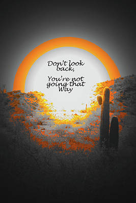 Typographic World Royalty Free Images - Dont look back Royalty-Free Image by Debbie Colombo