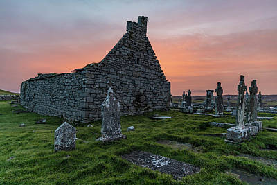 Photograph - Doolin Ireland Graveyard At Sunrise by John McGraw