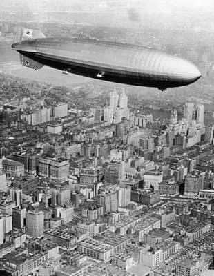 Doomed Airship Art Print by Hulton Archive