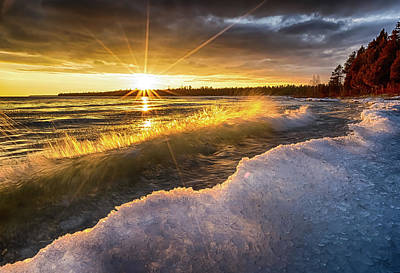 Photograph - Door County Sunset by Brad Bellisle