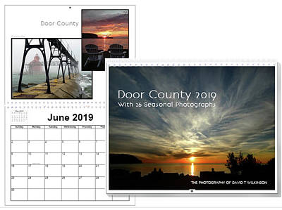 Photograph - Door County Wisconsin 2019 Wall Calendar by David T Wilkinson