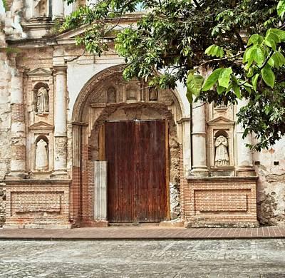 Pasta Al Dente - Door Entrance to Chuch in Ruins in Guatemala by Douglas Barnett