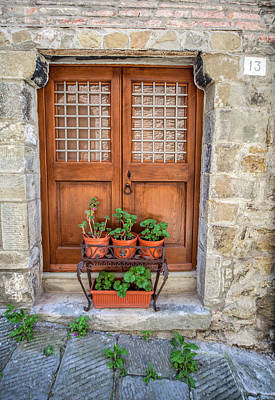 Photograph - Door Thirteen Of Tuscany by David Letts