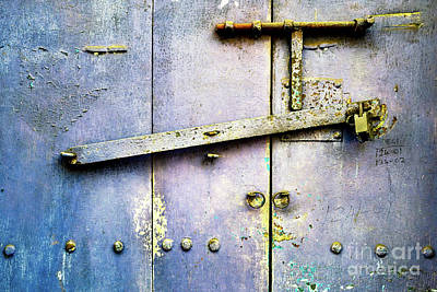 Photograph - Doors Of India - Blue Door Detail 3 by Miles Whittingham