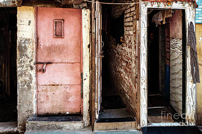 Photograph - Doors Of India - Dharavi Slum Doors by Miles Whittingham