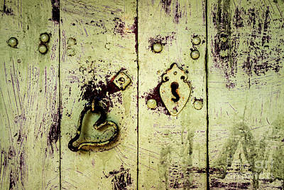 Photograph - Doors Of India - Green Door Detail by Miles Whittingham
