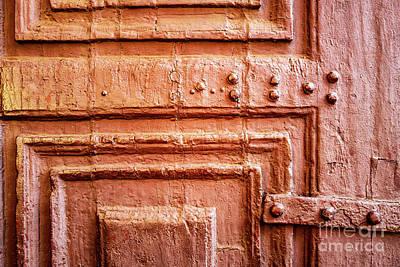 Photograph - Doors Of India - Orange Temple Door by Miles Whittingham