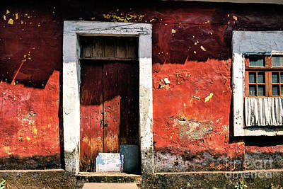 Photograph - Doors Of India - Red Door Red Wall by Miles Whittingham