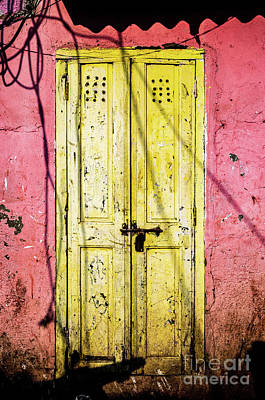 Photograph - Doors Of India - Yellow Door by Miles Whittingham