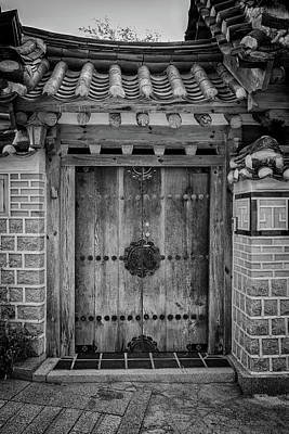 Photograph - Doorway In Bukchon In Black And White by Rick Berk
