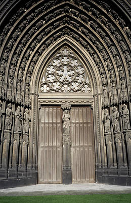 Photograph - Doorway Of St. Ouen Church by Chris Bradley