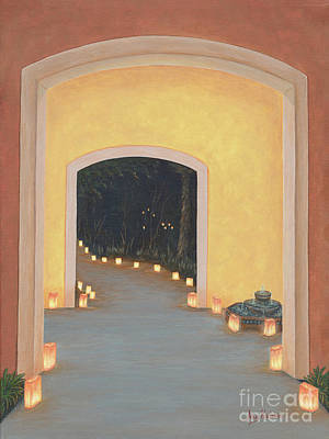 Fountain Wall Art - Painting - Doorway To The Festival Of Lights by Aicy Karbstein