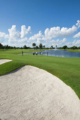 Trapped Photograph - Doral, Blue Monster Golf Course, Miami by Chris Cheadle