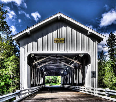 Photograph - Dorena Covered Bridge 1949 by Thom Zehrfeld