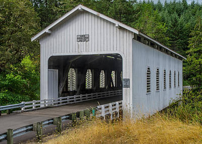 Photograph - Dorena Covered Bridge by Matthew Irvin