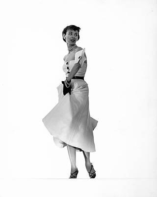 Photograph - Dorian Leigh Models Dress by Gjon Mili